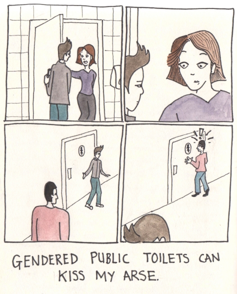 Gendered public toilets can kiss my arse
