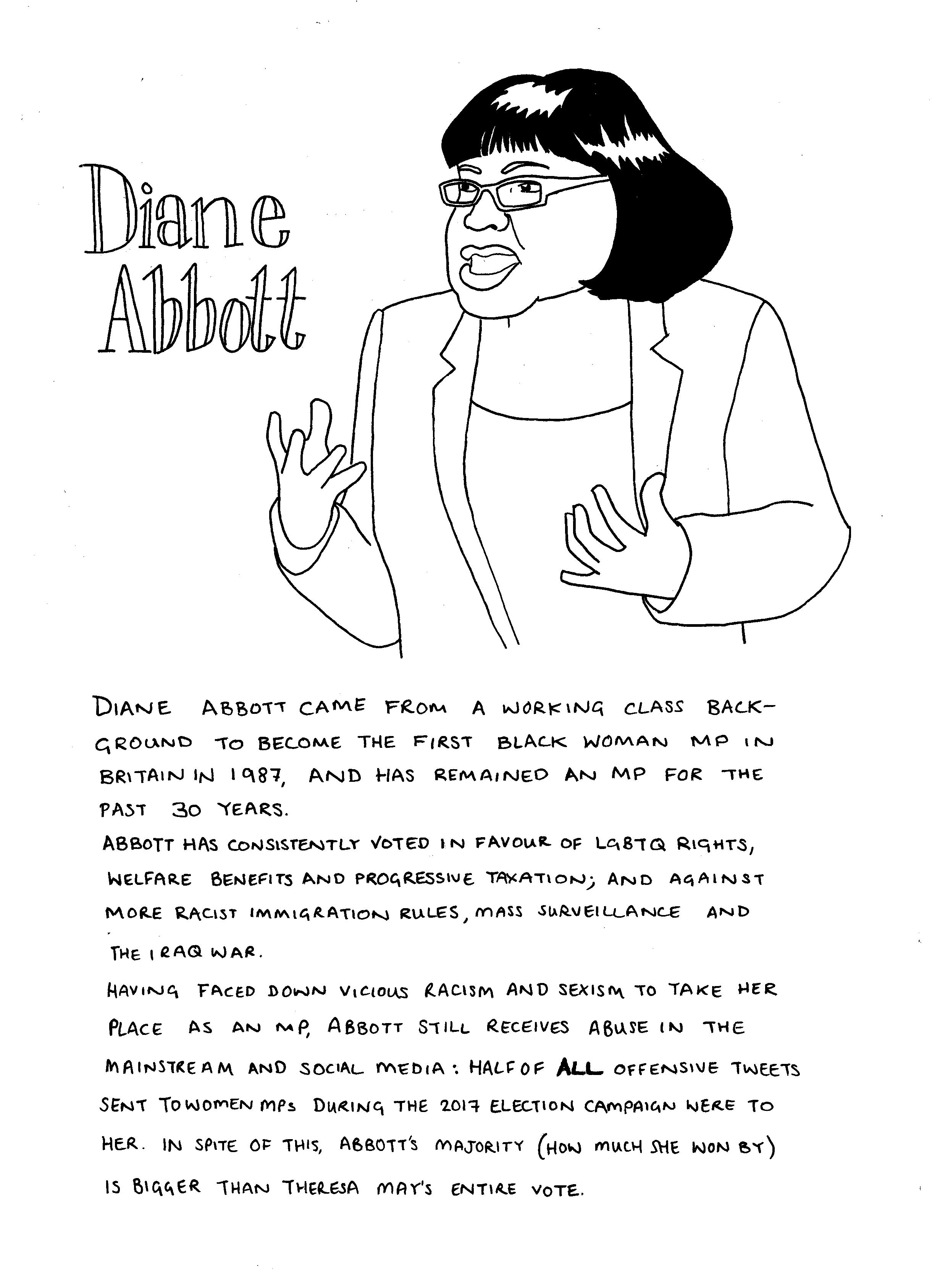 Black History Month Diane Abbott Drawn Out Thinking