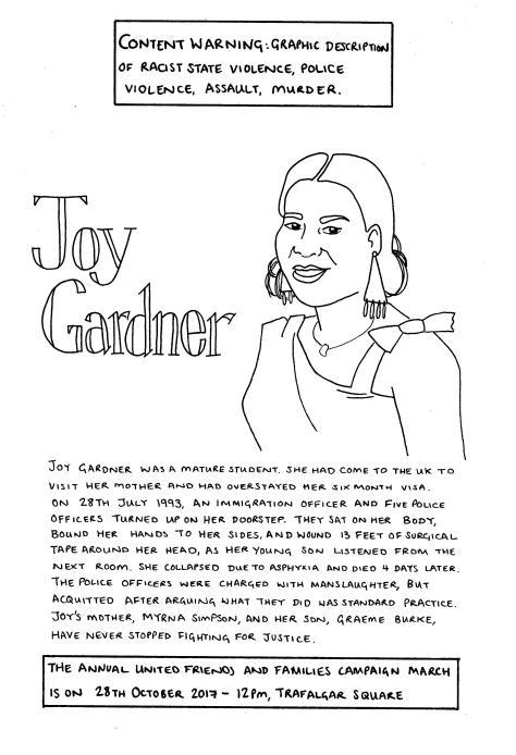 Joy Gardner drawing