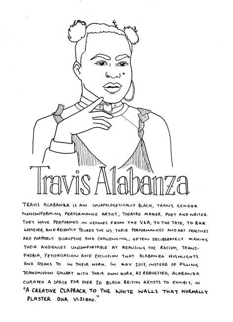 Travis Alabanza drawing